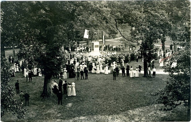 Unveiling of the Confederate Monument, June 2, 1913, in Orange County, North Carolina - PHOTO VIA UNC-CHAPEL HILL/WIKIMEDIA COMMONS