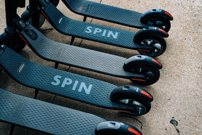 Spin, coming to UCF, is one of the many companies who can now offer their scooters in Orlando - TONY WEBSTER/WIKI COMMONS