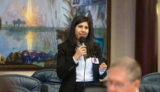 Rep. Anna V. Eskamani speaks during legislative session on April 3, 2019 - PHOTO COURTESY FLORIDA HOUSE OF REPRESENTATIVES