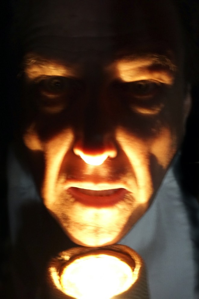 David McElroy as Ebenezer Scrooge - PHOTO COURTESY PENGUIN POINT PRODUCTIONS