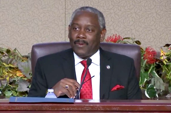 Orange County Mayor Jerry Demings on Tuesday - SCREENSHOT VIA ORANGE COUNTY BOARD OF COUNTY COMMISSIONERS