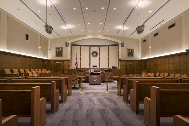 PENSACOLA COURTROOM PHOTO VIA LIBRARY OF CONGRESS/WIKIMEDIA COMMONS