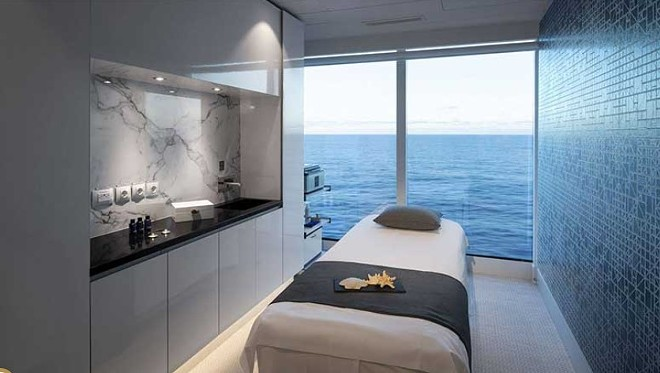 A spa treatment room onboard the Celebrity Edge - IMAGE VIA CELEBRITY CRUISES
