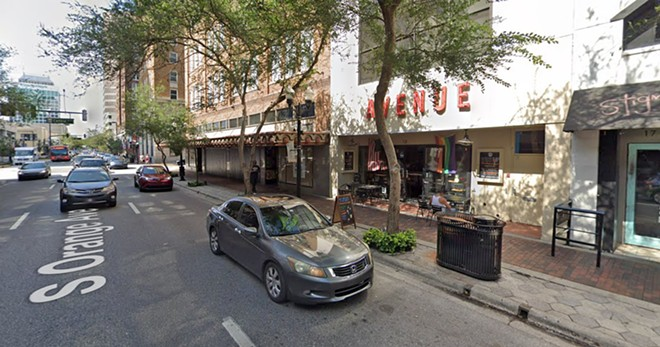 Avenue Gastrobar on Orange Ave., scene of the Wednesday attack - PHOTO VIA GOOGLE MAPS