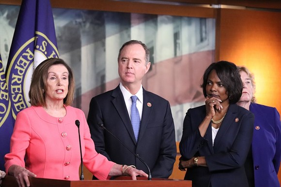 House Speaker Nancy Pelosi, Congressman Adam Schiff, and Congresswoman Val Demings - PHOTO VIA VAL DEMINGS/TWITTER
