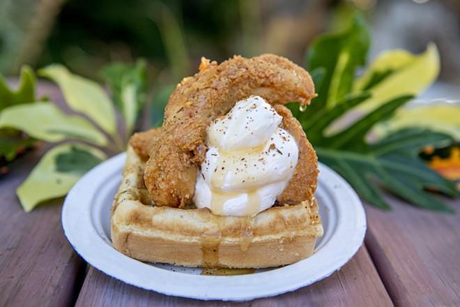 Chicken and waffles - PHOTO COURTESY SEAWORLD