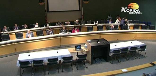 The Senate Education Appropriations Committee on Tuesday - SCREENSHOT VIA FLORIDA CHANNEL