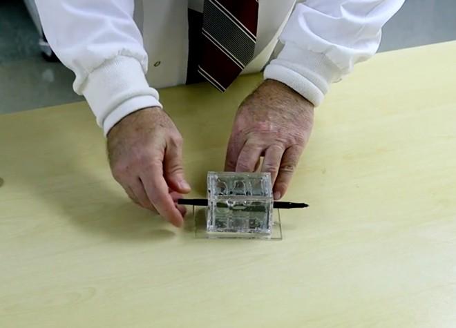 Todd Roberts demonstrates his invention - SCREENSHOT VIA ORLANDO HEALTH/YOUTUBE
