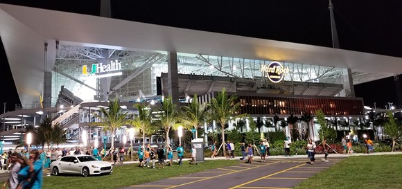 Hard Rock Stadium in Miami Gardens - PHOTO VIA A.J. LIPP/WIKIMEDIA COMMONS