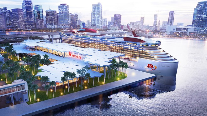 Virgin Voyages' proposed Miami cruise terminal - IMAGE VIA VIRGIN VOYAGES