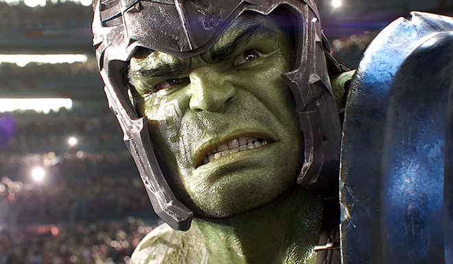 Mark Ruffalo as Hulk in 'Thor: Ragnarok' - SCREENSHOT VIA WALT DISNEY STUDIOS MOTION PICTURES/YOUTUBE