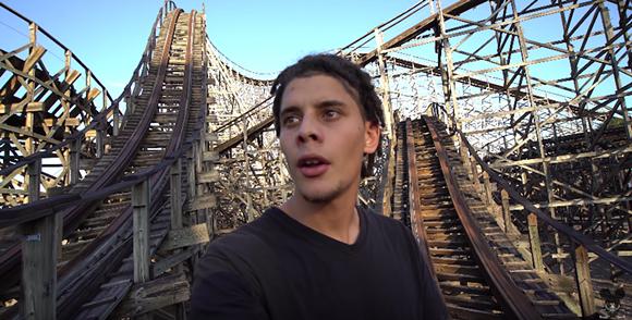 Matthew St. Cyr exploring Busch Gardens' defunct roller coaster, Gwazi, in a Jan. 2019 video. - SCREENSHOT VIA MATTHEW ST. CYR/YOUTUBE