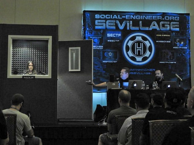 "A similar ""human hacking conference"" organized by Chris Hadnagy in Las Vegas in 2015 - PHOTO COURTESY SEVILLAGE"