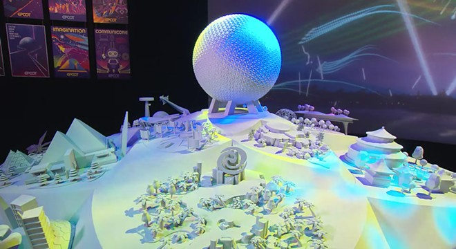 The model showcasing upcoming additions to Epcot that is currently on display in the park features the Imagination Pavilion despite no confirmation it is included in the changes to the park. - SCREENSHOT VIA DISNEY / YOUTUBE