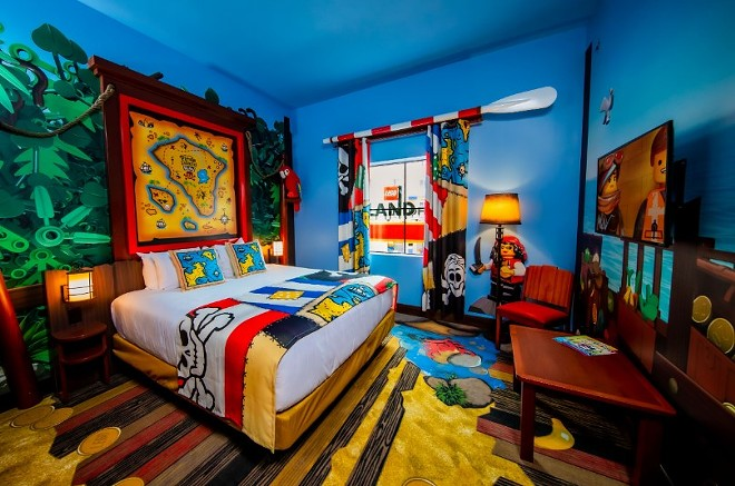 A room at the Pirate Island Hotel at Legoland Florida - PHOTO VIA LEGOLAND FLORIDA RESORT