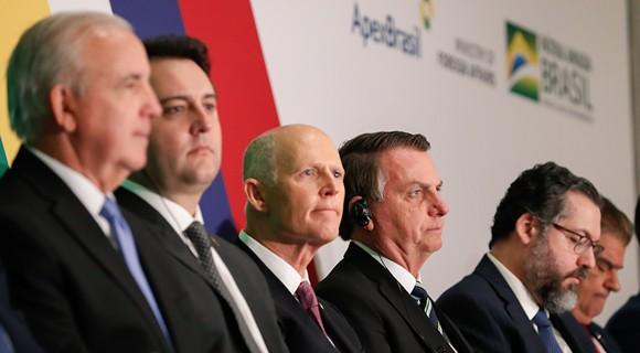 Scott spoke at the Brazil-US Business Relations Seminar on March 10 - PHOTO VIA RICK SCOTT/TWITTER