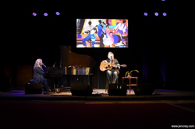 Terri Binion and Beth McKee at Blue Bamboo - PHOTO BY JEN CRAY