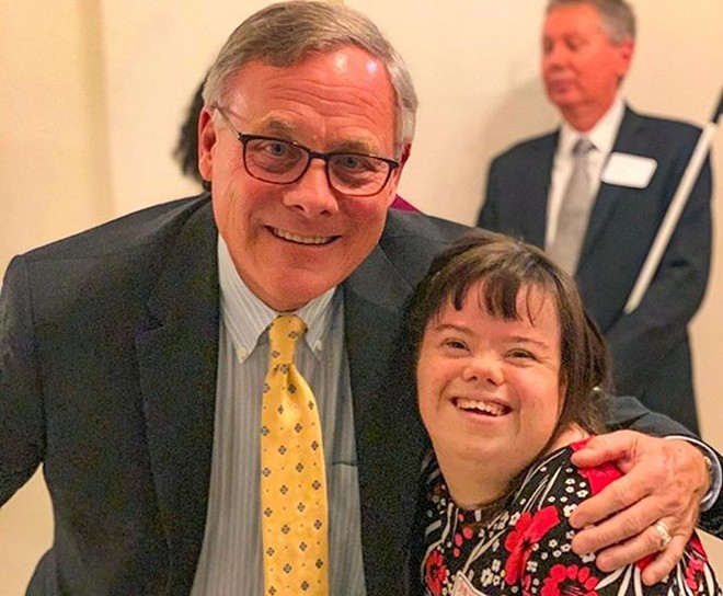 "Burr's last INstagram photo: ""Had a great time joining Charlotte & other friends in celebrating 5 years of the #ABLEAct! That's 5 years that young people with disabilities have been able to save money without losing the benefits they need."" - PHOTO VIA RICHARD BURR/INSTAGRAM"
