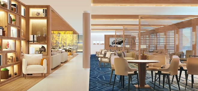 The Living Room lounge area on the Viking Mississippi - IMAGE VIA VIKING CRUISES