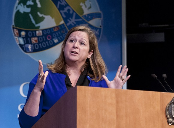 Abigail Disney in 2012 - PHOTO VIA U.S. NAVAL WAR COLLEGE/WIKIMEDIA COMMONS