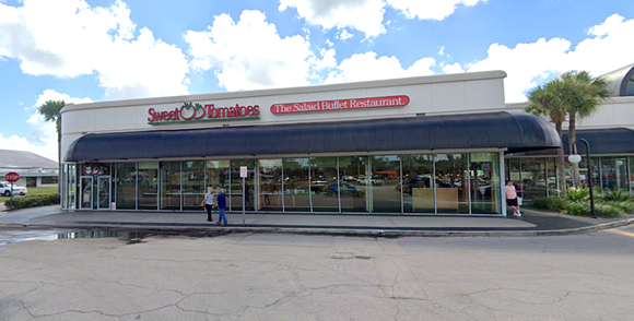 The now-closed Sweet Tomatoes at 4678 E. Colonial Drive - SCREENSHOT VIA GOOGLE MAPS