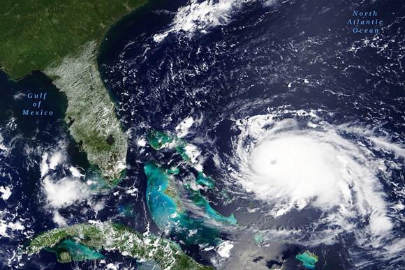 Hurricane Dorian in the Caribbean Sea on in August 2019 - IMAGE VIA NASA AND ADOBE STOCK