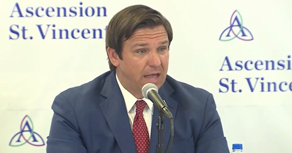 Gov. Ron DeSantis on Friday - SCREENSHOT VIA THE FLORIDA CHANNEL