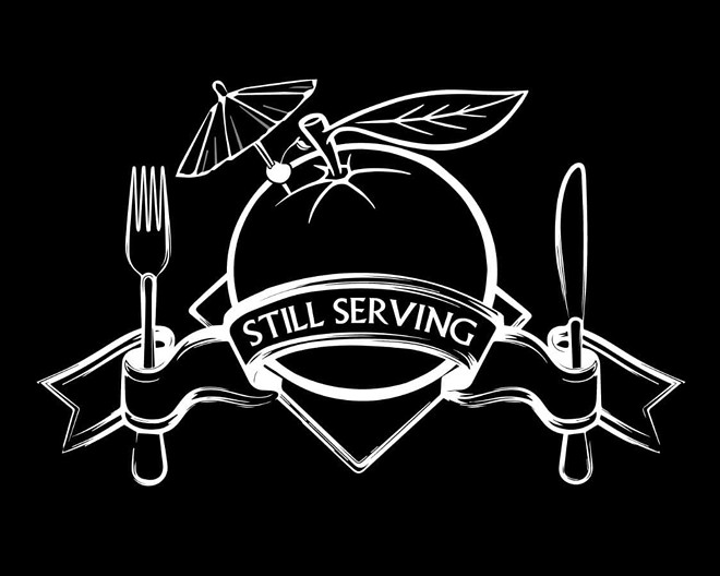The Still Serving logo was created by U.S. Marine veteran and founder of  I Know A Guy T-Shirt & More Joe Giannini. - PHOTO COURTESY HEATHER BEDOR