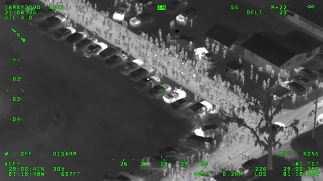 Volusia County Sheriff helicopter footage - SCREENSHOT VIA VOLUSIA COUNTY SHERIFF/TWITTER