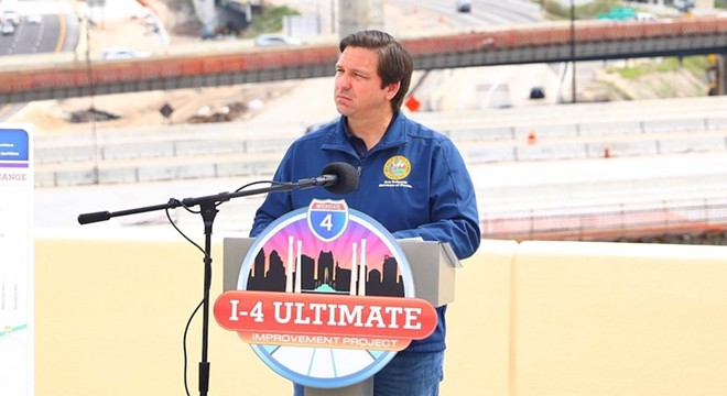 Gov. Ron DeSantis hoped to focus on I-4 construction on Monday. - PHOTO VIA RON DESANTIS