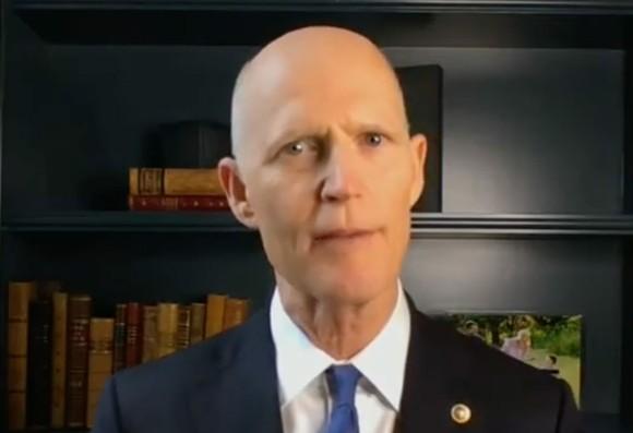 Sen. Rick Scott on Thursday - SCREENSHOT VIA FOX NEWS/YOUTUBE