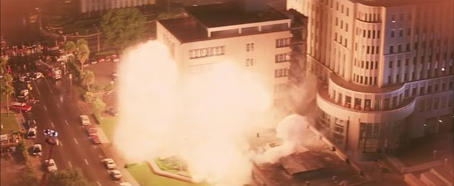 Controlled explosion of Orlando City Hall - SCREENSHOT VIA MOVIE CLIPS/YOUTUBE