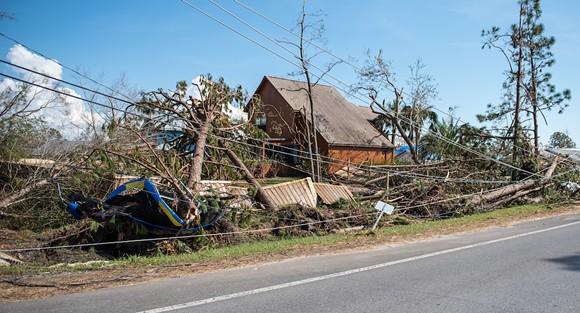 Hurricane Michael devastation in the Florida Panhandle - PHOTO VIA ADOBE STOCK