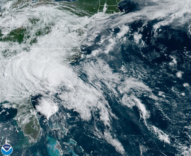 TROPICAL STORM BERTHA ON WEDNESDAY MORNING