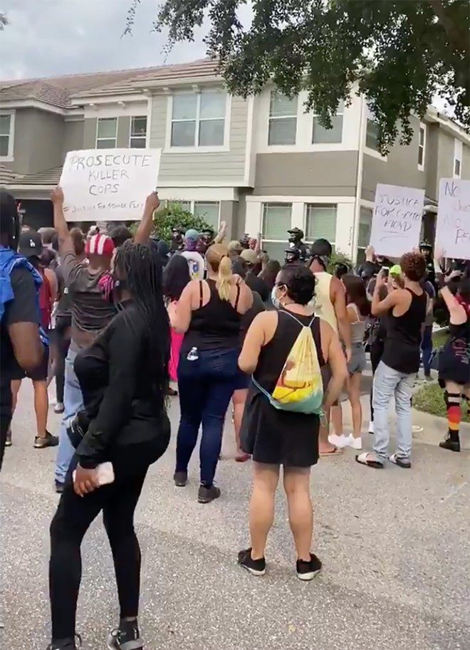 Protesters in Windermere on Saturday - PHOTO BY NATALIA JARAMILLO