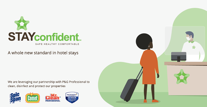 Extended Stay America has partnered with P&G Professional for their STAY Confident program. - IMAGE VIA EXTENDED STAY AMERICA