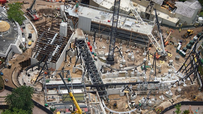 The construction site of the yet to be announced coaster - IMAGE VIA BIORECONSTRUCT | TWITTER