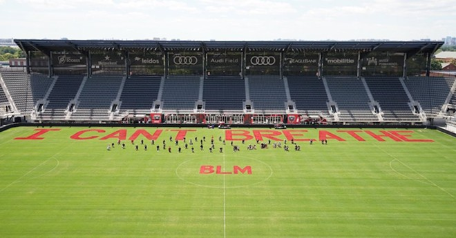 Audi Field soccer stadium painted by D.C. United players - PHOTO VIA MAJOR LEAGUE SOCCER FACEBOOK