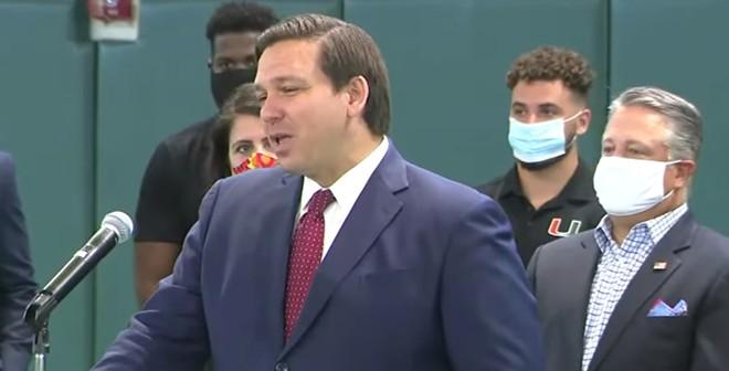 Gov. Ron DeSantis on Friday - SCREENSHOT VIA FLORIDA CHANNEL