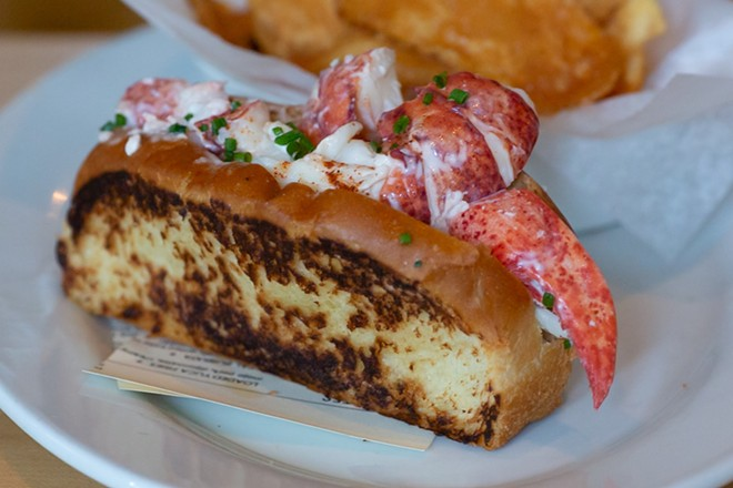Lobster roll at the Osprey. - PHOTO BY ROB BARTLETT