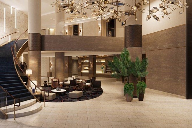 A pre-function lobby at the JW Marriott Orlando Bonnet Creek - IMAGE VIA MARRIOTT
