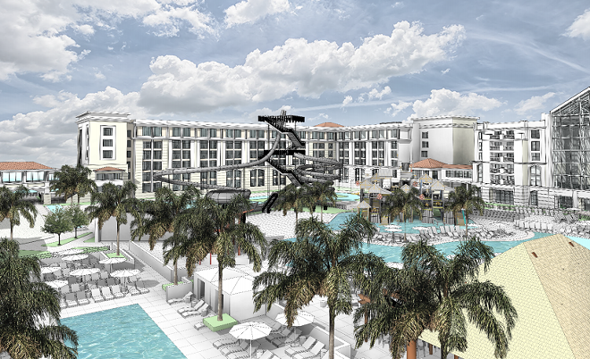 The updates pool area and hotel expansion at Gaylord Palms - IMAGE VIA RYMAN HOSPITALITY PROPERTIES