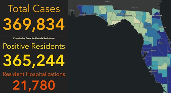 SCREENSHOT VIA FLORIDA DEPARTMENT OF HEALTH