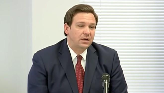 Gov. Ron DeSantis on Tuesday - SCREENSHOT VIA FLORIDA CHANNEL