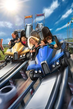 Some options for the CoasterKart include themed ride vehicles and racing style setups. - IMAGE VIA WIEGAND