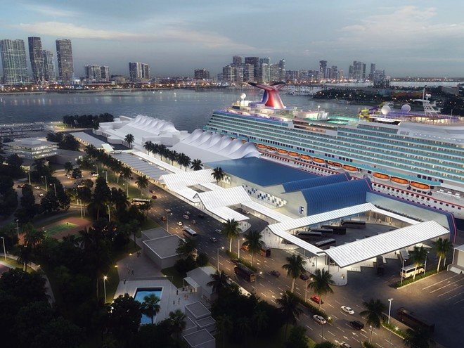 PortMiami's updated Carnival Cruise Line Terminal F - IMAGE VIA CARNIVAL CORPORATION