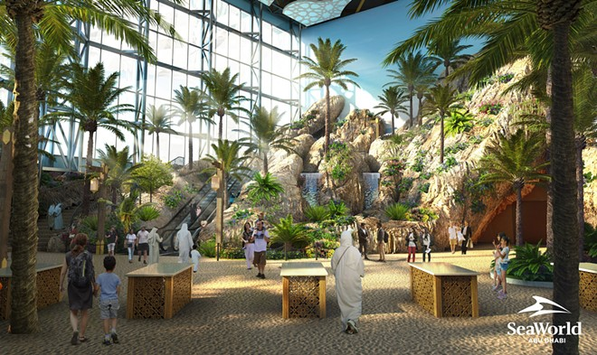SeaWorld Abu Dhabi Entrance Render - IMAGE VIA  PRNEWSFOTO/MIRAL, SEAWORLD PARKS & ENTERTAINMENT
