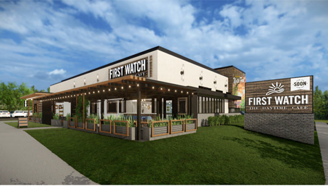 Concept art for the restaurant exterior - PHOTO COURTESY FIRST WATCH