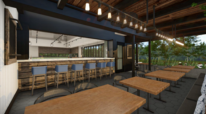 Concept art for the indoor bar - PHOTO COURTESY FIRST WATCH