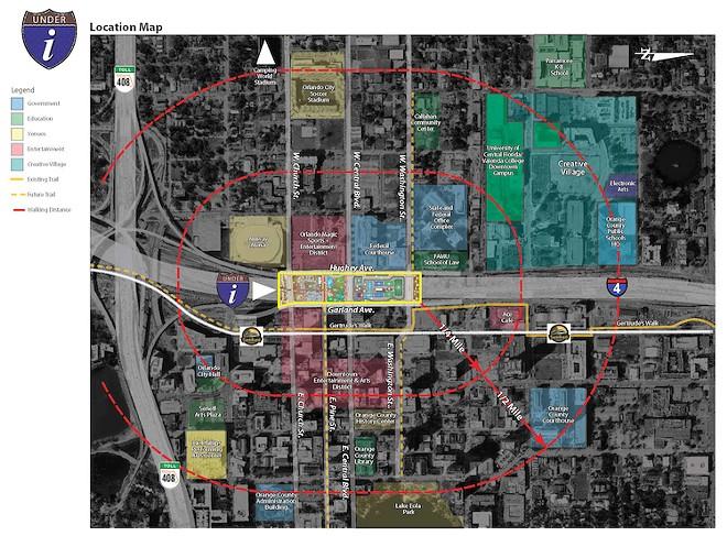 MAP COURTESY THE CITY OF ORLANDO